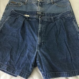 2 Pair Preowned Men's Denim Shorts Size XL CK Polo